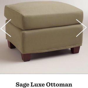 Marvelous Nwt World Market Sage Luxe Ottoman Cover Pabps2019 Chair Design Images Pabps2019Com
